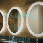 Oval Back Lit Mirror